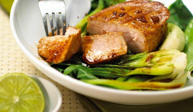 Fragrant Asian marinated pork steak