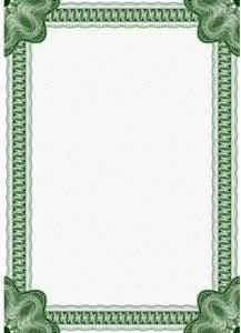 vector classic certificate border for diploma or certificate a4