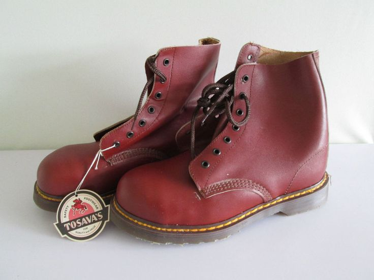 *WOW* RARE VINTAGE DR MARTENS TOSAVA'S SAFETY BOOTS UK SIZE 8 REDDISH BROWN NEW in Clothes, Shoes & Accessories, Men's Shoes, Boots | eBay