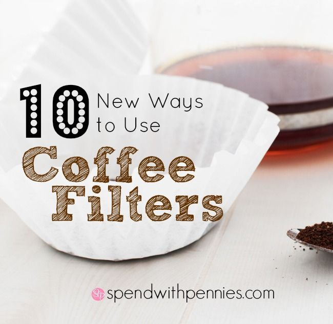 10 New Ways to Use Coffee Filters Love it? Pin it to SAVE it! Follow Spend With Pennies on Pinterest for more great tips, ideas and recipes!  Leave your own great tips in the comments below! Have some extra coffee filters left over from an old...