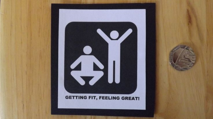 Getting fit, feeling great! Laminated card £1.50