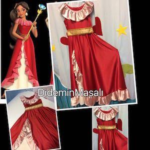 Didem'in Masalı Prenses Elena kostümü, doğum günü elbiseleri, doğum günü kıyafetleri, Prenses Elena kostümü