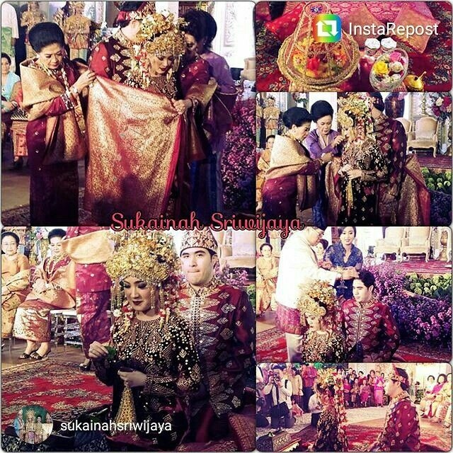 Dilla Saman Wedding Suap-suapan, cacap-cacapan adat palembang