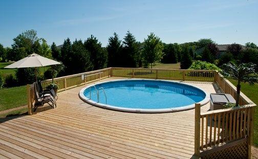 Decks Around Round Above Ground Pools Wood Pool Deck