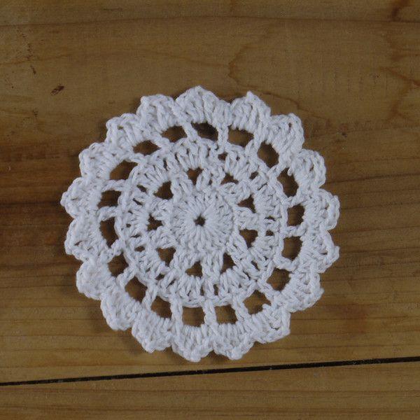 Handmade Crochet Coasters Mat Pad applique 30Piecs de crochet  sur DaWanda.com