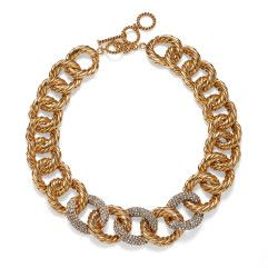 AERIN gold link necklace