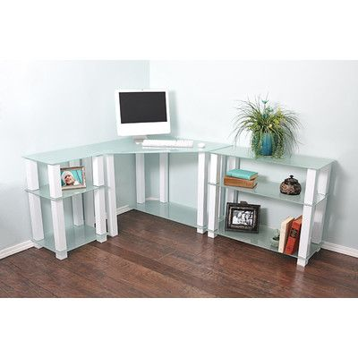 You'll love the Hector Corner Corner Computer Desk with Left and Right Extension Table at Wayfair - Great Deals on all Office  products with Free Shipping on most stuff, even the big stuff.