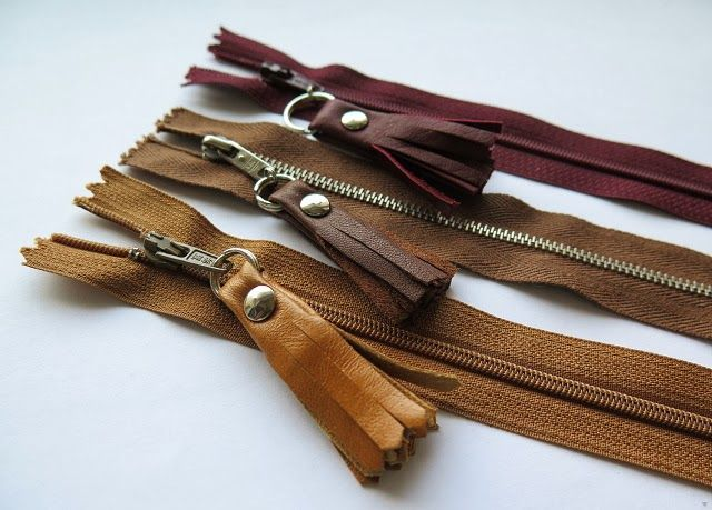 Negligent style: Tutorial - Leather scraps zipper pulls