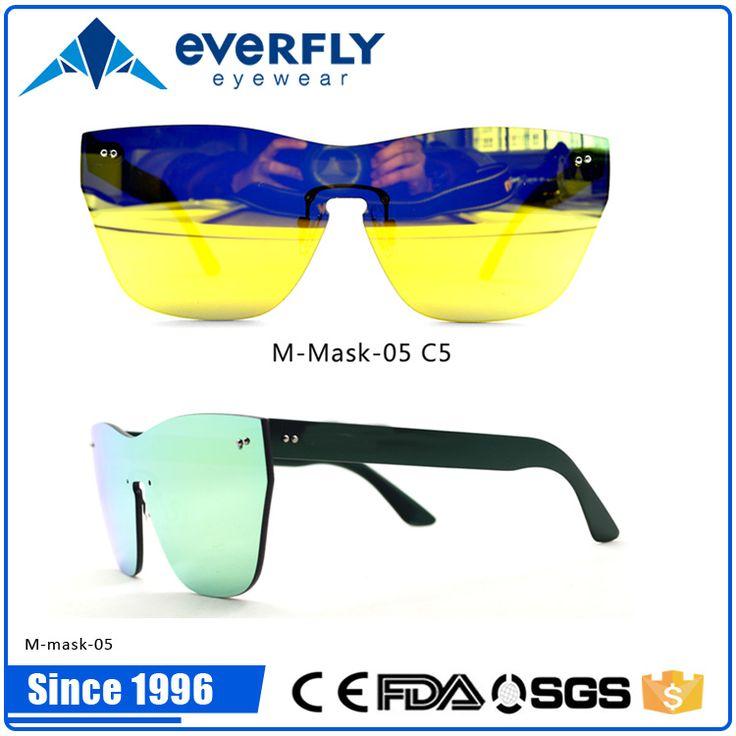 Popular fashion cool men's one piece lens sunglasses 2016 hotselling sunglasses