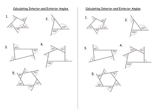 17 Best Ideas About Interior And Exterior Angles On Pinterest Exterior Angles Geometry