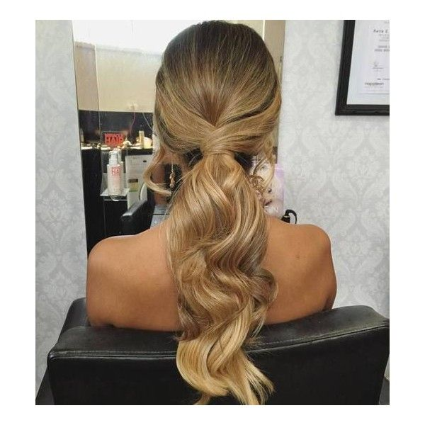 40 Super Simple Messy Ponytail Hairstyles Liked On