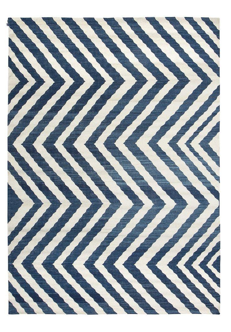 Tapete-Kilim-Zebra-Indigo-lã-algodão-desenhado-sala-quarto-living-azul