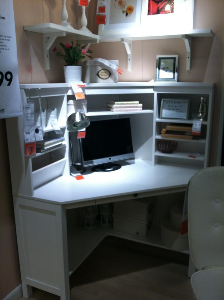 Best 25 ikea corner desk ideas on pinterest - White corner office desk ...