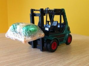 Easter eggs on the forklift