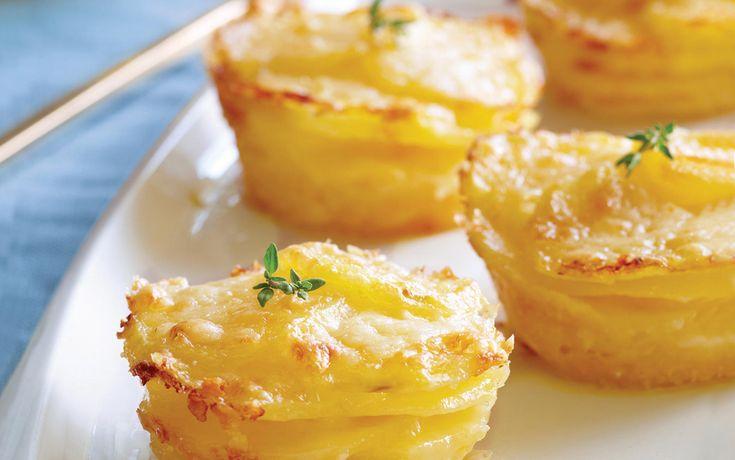 Baked Mini Potato Galettes | Potatoes | Pinterest
