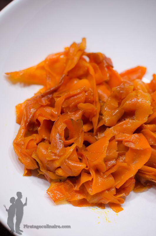 Tagliatelles de carottes à la sauce soja | Piratage Culinaire -> ⭐⭐⭐⭐