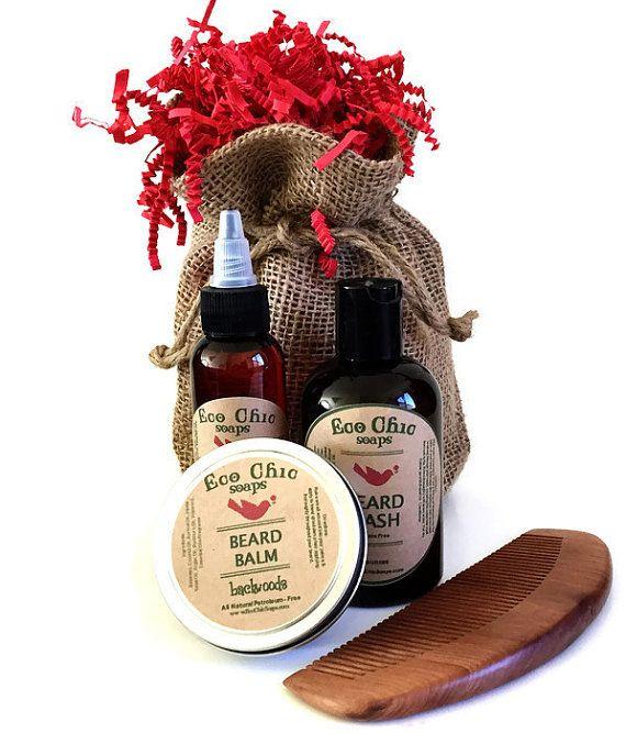 Beard Care Kit  Men's Beard Care Kit  Gift for Him by EcoChicSoaps
