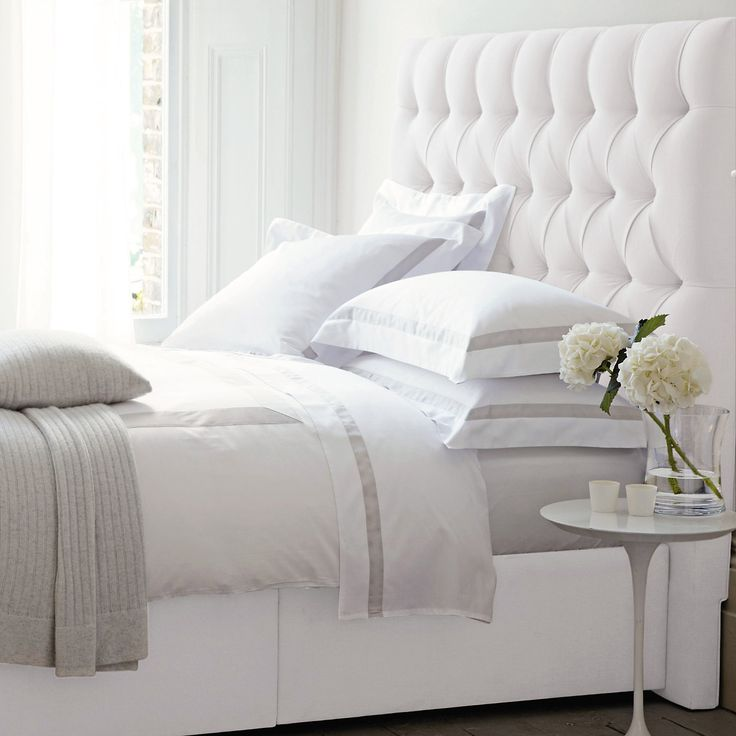 Richmond Headboard - Beds | The White Company for Peter Pan bedroom