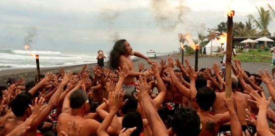 Opening ceremony Oakley Pro Bali #hindu #ceremony #keramas #bali #wct #contest #surf #competition