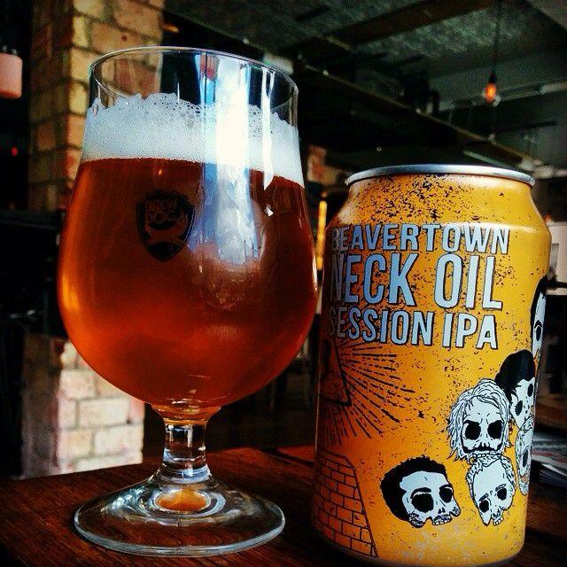Beavertown Brewery // Neck Oil Session IPA 4.3% ABV. Hops: Magnum, Columbus, Centennial, Simcoe, Amarillo, Galaxy, Vic Secret & Mosaic.