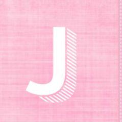 5-luik geboortekaartje roze stof