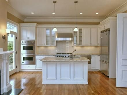 Norfolk Kitchen And Bath   Gallery White Cabinets With Hardwood And Gray  Granite