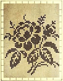 Rose ~ Vintage Filet crochet pattern (1885) http://archive.org/stream/ladiesfancywork00inga#page/n55/mode/2up: