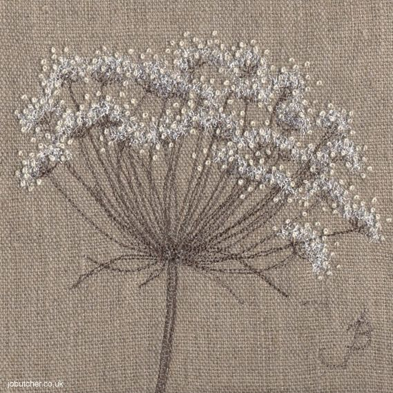 Cow Parsley on Linen I