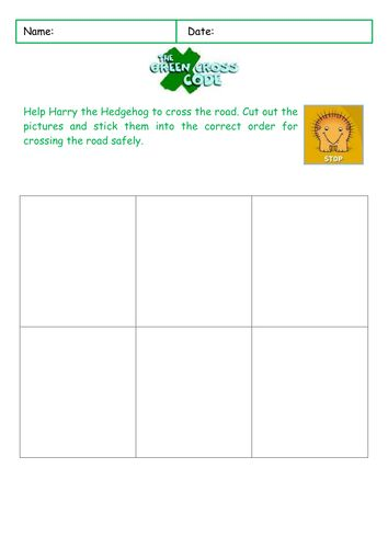 A simple sequencing activity to help pupils practice the Green Cross Code  ChildSafetyWeek