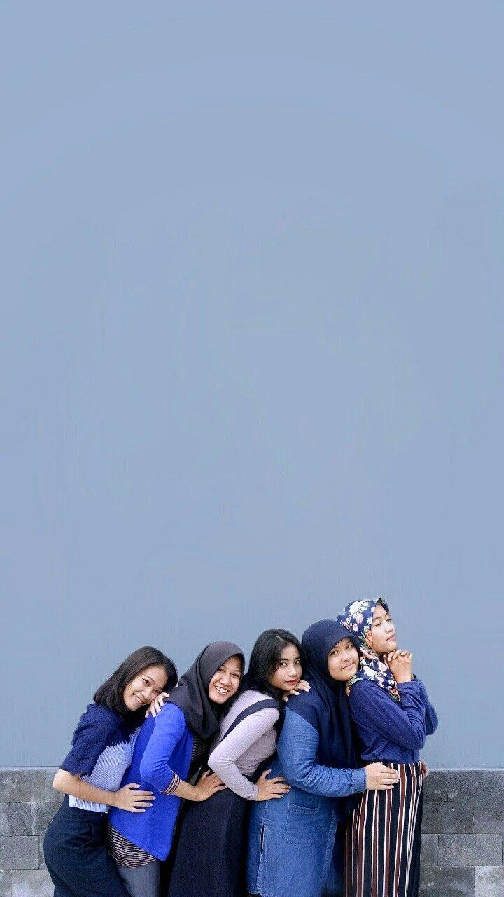 Bestfriend poses 5 girl tumblr love navy groups girls hijab