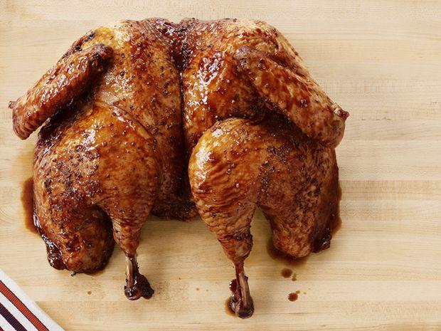 Butterflied Turkey with Apple-Cranberry Glaze Recipe : Food Network Kitchen : Food Network - FoodNetwork.com