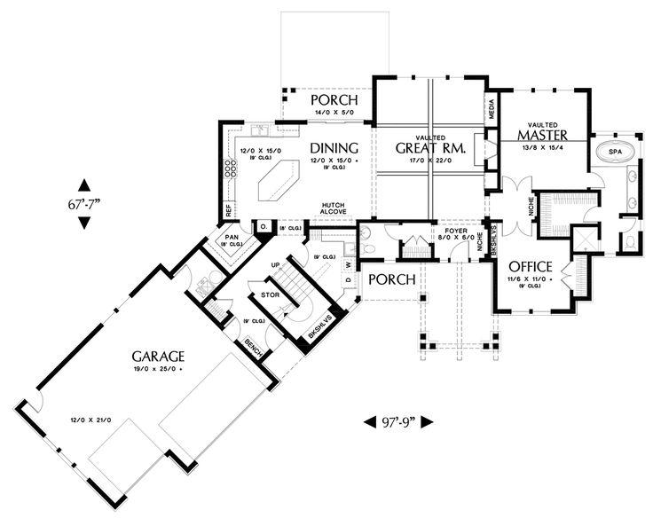 8 best bigger houses images on pinterest | floor plans, modern