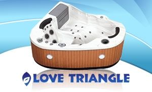 Love Triangle 2 Person, 22 Jet Corner Spa 220 Volt or 110 Volt Plug and Play Portabl Hot tubs