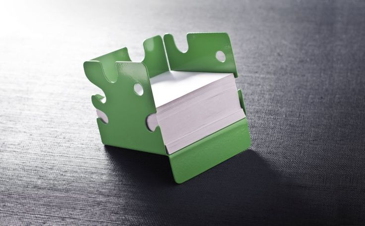 """Note cube holder """"Delicious Monster"""" by Holly Birkby for Carrol Boyes."""