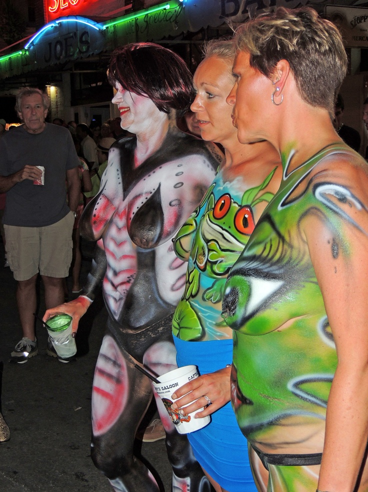 Key West Florida Fantasy Fest Quot Mystical Myths Amp Twisted Tales Body Painting Is The 1