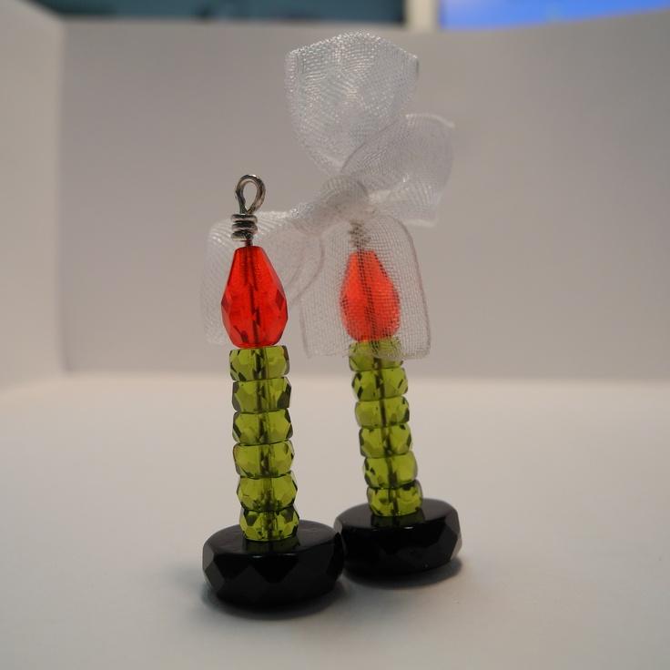 candele in cristallo di boemia