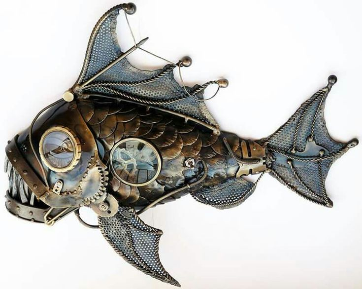 Steampunk Fish Sculpture So Cool   Sculpture  Fish