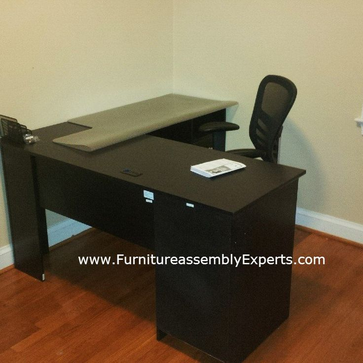 Staples Office Desk By Bush Furniture Assembled In Chevy Chase MD Assembly Experts LLC