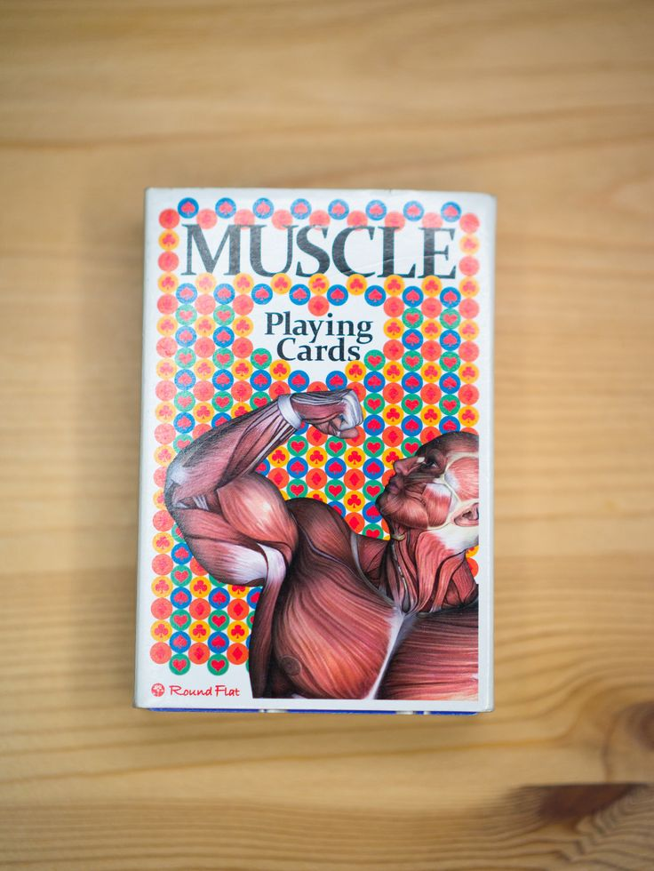 https://flic.kr/p/Cwx8kR | 6 Muscle Playing Card - uniqe product from japan | playing card from japanese shop: roundflat.jp/  more anatomy products on: muscleskinsuit.com/