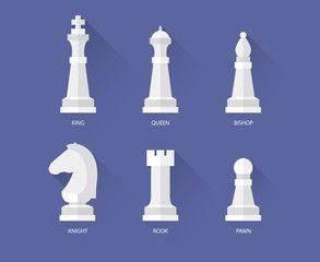 Шахматные плоские иконки