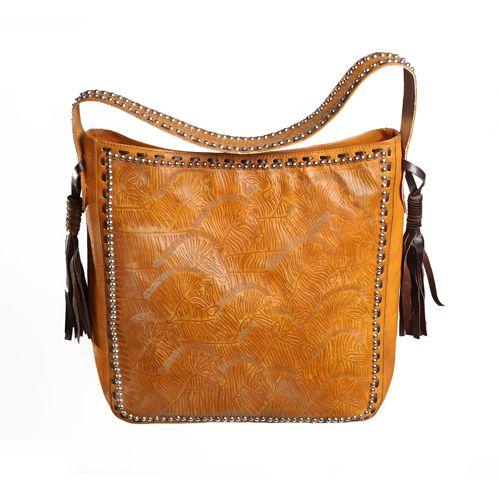 ZULUWATU BUCKET BAG in Antique tan Cow Leather/Choc Napa Leather Trim/Silver Hardware with Repetitive Zebra Carving Pattern. www.jodilee.com.au Facebook: JodiLee Instagram: jodileedesigns