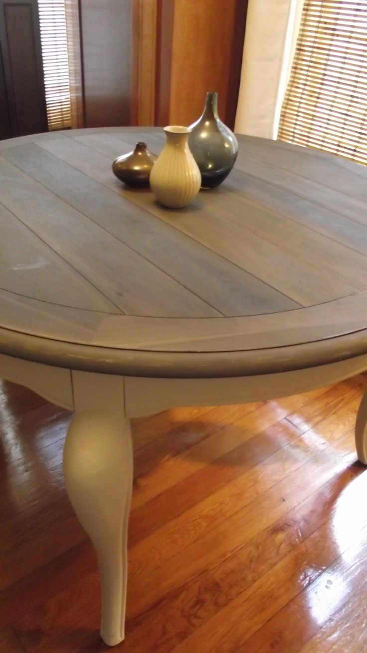 vinegar and steel wool with tea stained table top