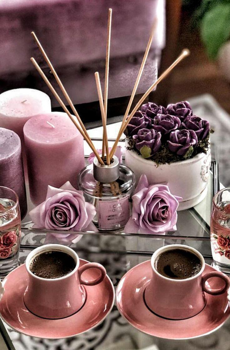 Утренние открытки кофе и цветы и сладости, седьмой годовщиной