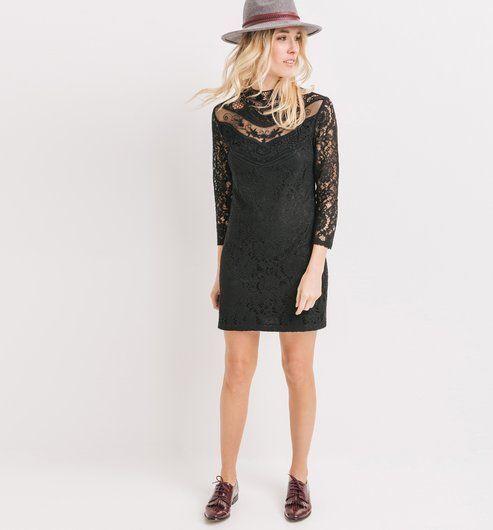 17 meilleures idees a propos de robes en dentelle noires for Robe promod noire