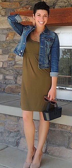 Cute Fall Look ...L.O.V.E. it! #outfitinspiration #denim #maxi