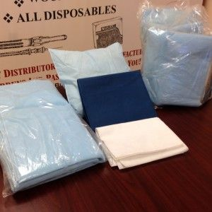 Protectamed Linen Pack Disposable W/Sheets,Pillow,Underpad Cs/5. SKU: BP100-5 $25.00