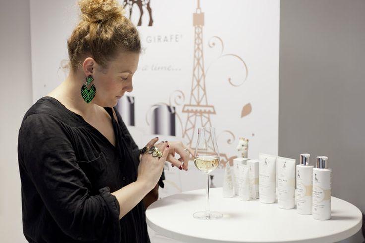 Sophie la girafe Baby -range launched in Helsinki, Finland November 2013. Here beauty editor Ilona Haahtela from Elle Finland #sophielagirafe #sophiethegiraffe #sophielagirafecosmetics #elle #ellefinland #finland #pressevent #launch #vip #organic #ecocert