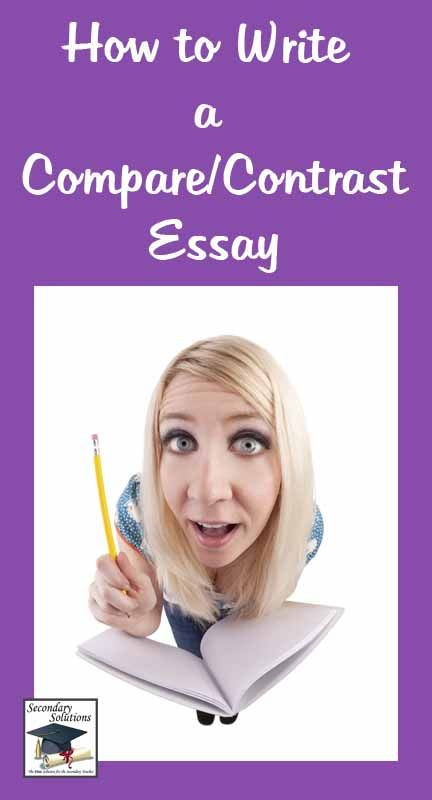 Genuine compare and contrast essay example for middle school essay options