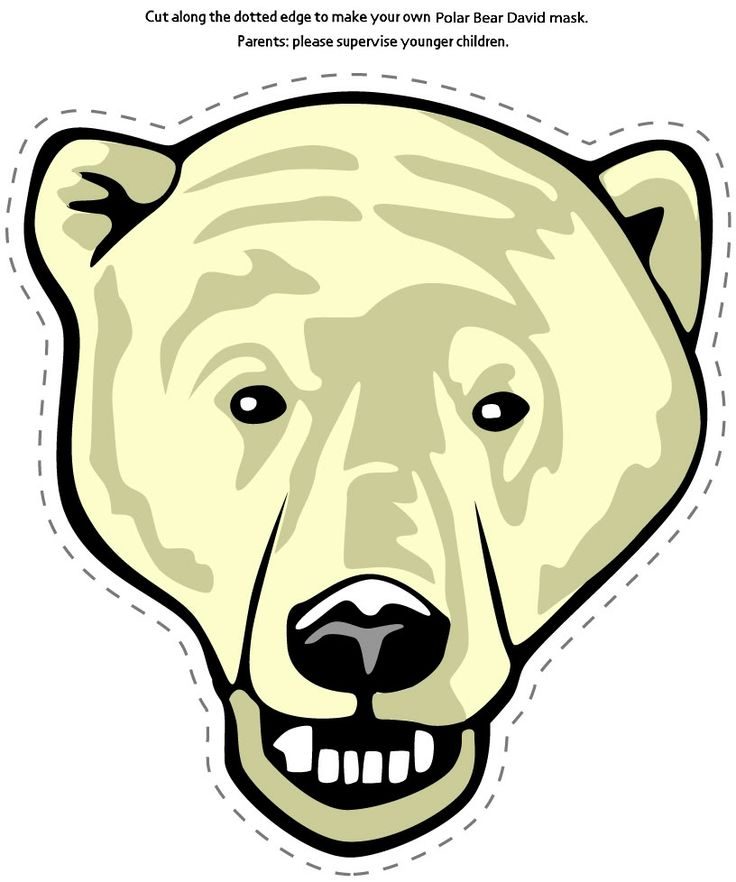 Polar Bear Mask Bear Mask Polar Bear Polar Animals