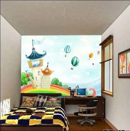 Детская телевидение мультфильм обои фон обои фон обои гостиной диван фон настенные фрески Скидки - Taobao